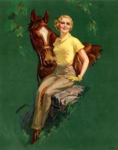 """Roy Best - """"Thoroughbreds"""" 1940′s"""