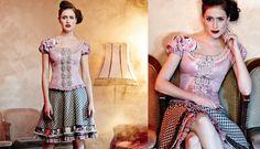Maßgeschneiderte Couture-Dirndl aus luxuriösen Stoffen, genäht in Deutschland