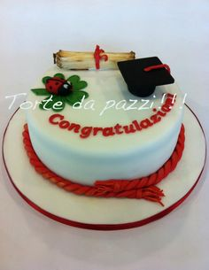Torte da pazzi Novelty Cakes, Love Cake, Cupcakes, Biscotti, Fondant, Tart, Cake Decorating, Graduation Ideas, Cooking
