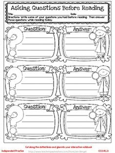 Freebie!  This resource includes two grade 2 common core interactive notebook reading lessons, printable student pages, graphic organizers, a reflection on learning printable, and explanations for the lessons!