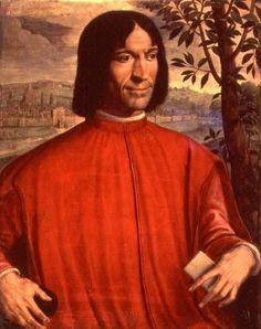Lorenzo de'Medici - velký mecenáš, milovník antického umění, držel ochrannou ruku nad Michelangelem