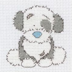My Blue Nose Friend Cross Stitch Fluffy
