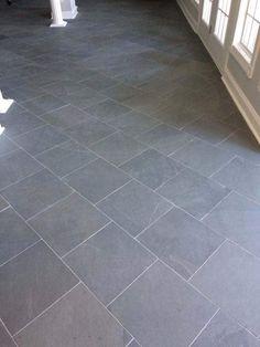 Order Cabot Slate Tile Montauk Blue / Natural Cleft / delivered right to your door. Slate Floor Kitchen, Grey Kitchen Tiles, Slate Bathroom, Deck Flooring, Entryway Flooring, Slate Flooring, Grey Slate Tile, Grey Floor Tiles, Slate Patio