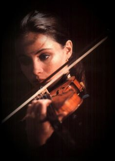 Beautiful Portrait of a Violinist.