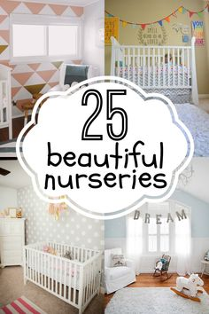 Beautiful Nursery Inspiration via #Remodelaholic