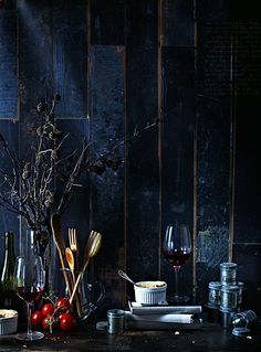 Beautiful deep blue paneling, still life.  TomatoSoup   vanessa | v.k.rees photography  http://vkreesphotography.com/    beautiful photo blog  http://pinterest.com/vkrees/