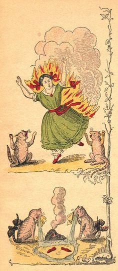 'The Dreadful Story about Harriet and the Matches' from Der Struwwelpeter (1845) a popular German children's book by Heinrich Hoffmann.