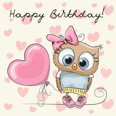 cartoon búho cumpleaños - enviarpostales.net   #felizcumple #postal5601