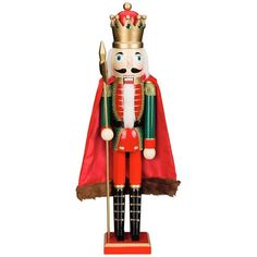 Bombay Cape Christmas Nutcracker () ($52) ❤ liked on Polyvore featuring home, home decor, holiday decorations, christmas and xmas
