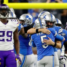 The comeback kids?   The Detroit Lions have trailed in the fourth quarter in each of their 11 games. With a last-second win over the Minnesota Vikings on Thursday, they've now won seven of them.  [Credit: Paul Sanctus/AP Photo]