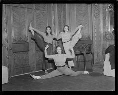 gameraboy:  Daisy White, Eleanor MacNeil and Claire Nolen in dance pose by Boston Public Library on Flickr. 1932