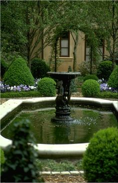 pretty fountain by front entrance