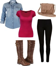 """""""Denim and Boots"""" by alyssakrause on Polyvore"""