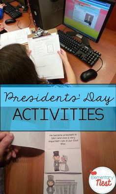Education Activities for President's Day- elementary students can research and learn all about presidents and the job itself. President's Day Is Coming