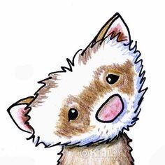 Original Art Ferret Caricature ACEO Illustration by KiniArt, $40.00