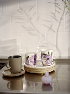 new for spring Marimekko, Nordic Design, Rustic Feel, Decoration, Flower Power, Stoneware, Tea Pots, Branding Design, House Design