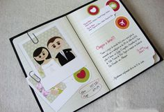 Convite de casamento estilo scrapbook