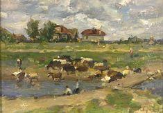 Gennady  Korolev - Herd - Oil on Panel - 1957