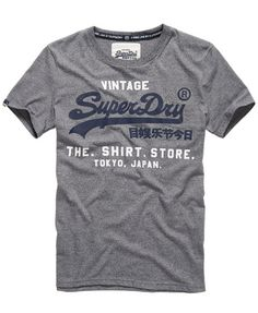 Mens - Shirt Store T-shirt in Mid Grey Jaspe | Superdry