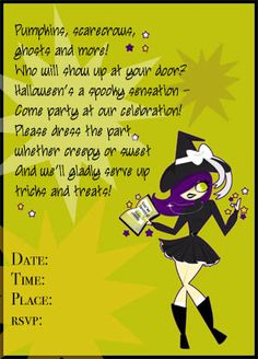 image detail for halloween party invitation wording poems sayings ideas and spooky