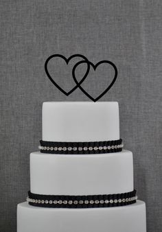 Cake Topper - HEARTS Cake Topper by Chicago Factory