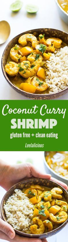 This aromatic Coconut Curry Shrimp Recipe is full of flavor, yet quick and easy to make. Curry Shrimp and Rice is a healthy, gluten free weeknight meal