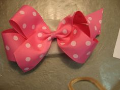 Boutique Hair Bow Tutorial.  I can now have the perfect color hair bow all the time!