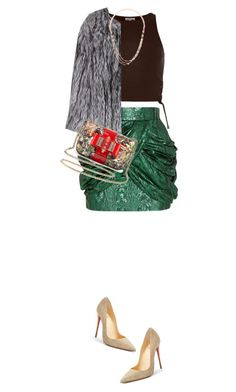 """Casey"" by mymemoolove ❤ liked on Polyvore featuring River Island, Balmain, Christian Louboutin, The Row and Eddie Borgo"