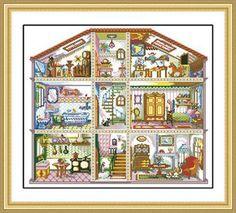 Cross Stitch Dollhouses: March 2013
