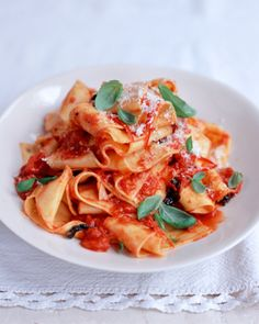 cheat's home-made pappardelle with quick tomato sauce
