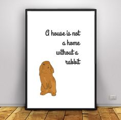 Bunny Lover rabbit lover gift a house is not by HangingMonkeyArts