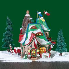 """Department 56: Products - """"Mrs. Claus' Handmade Christmas Stockings"""" - View Lighted Buildings"""