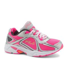 Pink & Silver Quadrix Running Shoe