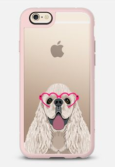 Cocker Spaniel heart glasses funny dog cell phone case by pet friendly iPhone 6 case by Pet Friendly | Casetify