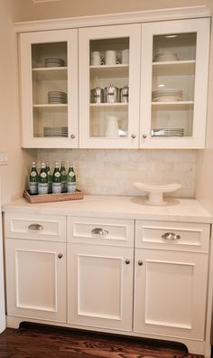 I like the depth change and the furniture look of the lower cabinets
