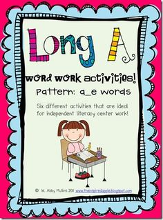 Long A activities first grade