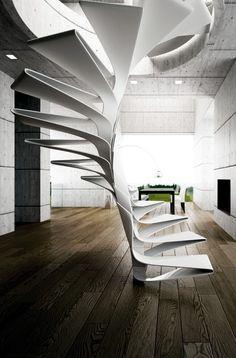 Fibreglass spiral staircase