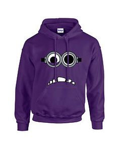How cool is this. Despicable Me 2 Evil Adult Minion Hoodie / Hoody / Sweatshirt Small - 3XL | eBay