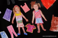 www.MeaningfulMama.com Personalized Magnetic Paper Dolls