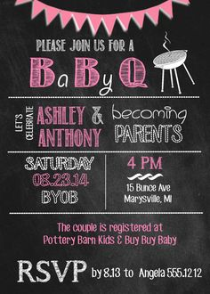 Hey, I found this really awesome Etsy listing at https://www.etsy.com/listing/194328725/baby-q-chalkboard-invitation-baby-shower