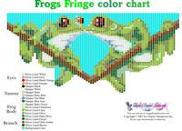 Kissing Frogs Fringe Necklace for Downloadable Pattern or Bead Graph for Beading