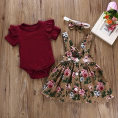 Rompers Telotuny kid Casual Clothing Set Cotton Baby Toddler Girls Kids Overalls Skirt +He Fashion Kids, Baby Girl Fashion, Babies Fashion, Baby Fashion Clothes, Womens Fashion, Fashion Dolls, Latest Fashion, Kids Overalls, Overall Skirt