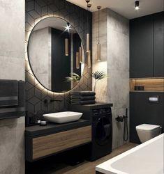 Bathroom Design Luxury, Modern Bathroom Design, Modern House Design, Bad Inspiration, Bathroom Design Inspiration, Design Ideas, Interior Design Career, Home Room Design, Loft Design