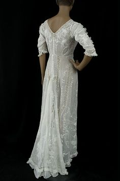 edwardian tea dress back