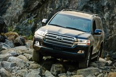 A legend in its own time, the Toyota Land Cruiser is as much a throwback to the past as it is a showcase for Toyota's engineering prowess. Find out why the 2017 Toyota Land Cruiser is rated by The Car Connection experts. Land Cruiser 200, Land Cruiser Models, New Toyota Land Cruiser, Jeep Willys, Best Off Road Vehicles, Dubai Rent, Dubai Cars, Best Suv, Land Rover