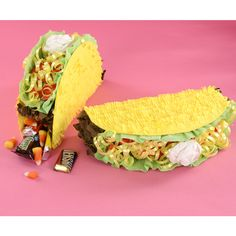 Personal Taco Pinata - Made out of Cardstock and Crepe paper - Template