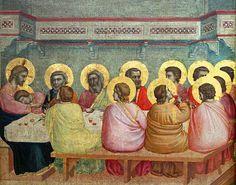 Giotto di Bondone (ca 1266-1337), Last Supper, 1320-25, tempera on wood, 45 x 43 cm, detail