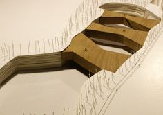 iodice architetti - art, music city and cave park - lecce, italy - 2010 ♦ × ARCHITECTURAL MODEL ITALIAN MODEL PAPER AND CARDBOARD PEOPLE PINS TERRAIN TREES WOOD 2010|14