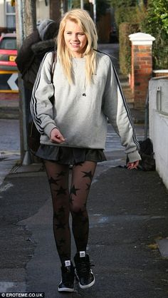 Rebellious character: Hetti Bywater who will star in EastEnders as the new Lucy Beale was spotted smoking a roll up near the set today