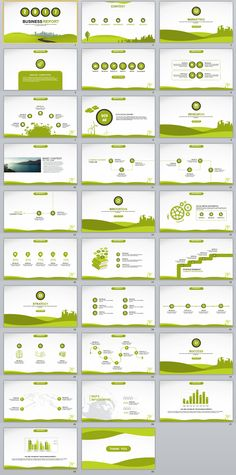 Green Business Dynamic Powerpoint Presentations Template